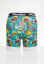 Franklees - Boom kapow long leg trunks - turquoise
