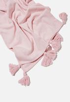 Rubi - Large tassel throw-pink