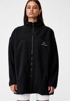 Factorie - Oversized funnel neck zip through - black/intl comp