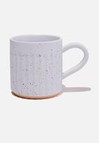 Rubi - Etched mug-blue speckle