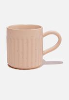 Rubi - Etched mug-natural speckle