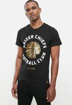 Kaizer Chiefs - Urban Edition - Collegiate logo T-shirt gold foil - black