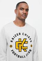Kaizer Chiefs - Urban Edition - Monogram crew neck sweater with flock print detail - grey