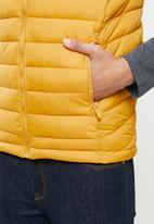 Aca Joe - Aca joe zip thru sleeveless jacket - mustard