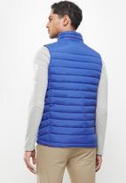 Aca Joe - Aca joe zip thru sleeveless jacket - blue