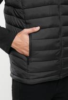 Aca Joe - Aca joe zip thru sleeveless jacket - black