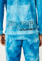 Flyersunion - Ub fleece spectra-dye hoodie - teal