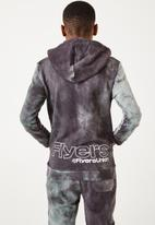 Flyersunion - Ub fleece spectra-dye hoodie - charcoal