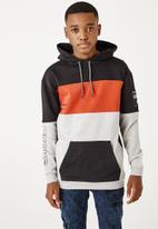 Flyersunion - Colourblock brushed hoodie - multi
