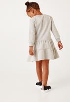 Flyersunion - Tiered fleece dress - grey