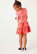 Flyersunion - Spectra-dye tiered fleece dress - blush