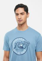 Quiksilver - Square me up mod short sleeve tee - blue