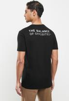 RVCA - Big rvca banner short sleeve tee - black