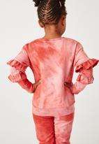 Flyersunion - Ub fleece spectra-dye frill crew - blush