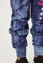 Flyersunion - Ub fleece spectra-dye frill jogger - navy