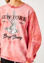 Flyersunion - Ub fleece spectra-dye drawstring tunic top - blush