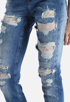 Vero Moda - Gambler Low Waist Lace Jeans