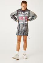Flyersunion - Ub fleece spectra-dye drawstring dress - charcoal