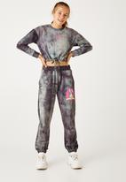Flyersunion - Fleece spectra-dye drawstring crew - charcoal