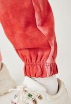 Flyersunion - Ub fleece spectra-dye jogger- blush