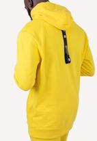 Flyersunion - Brushed fleece hoodie - yellow