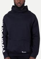 Flyersunion - Brushed fleece buff hoodie - black