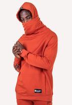 Flyersunion - Brushed fleece buff hoodie - rust