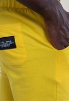 Flyersunion - Brushed fleece jogger - yellow