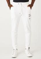 Flyersunion - Brushed fleece jogger - white