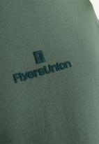 Flyersunion - Brushed fleece crew - olive