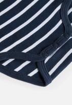 name it - 3 Pack bodysuits - navy & white