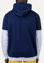 Flyersunion - Colorblock brushed fleece hoodie - multi