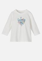 name it - Tora long sleeve tunic top - white