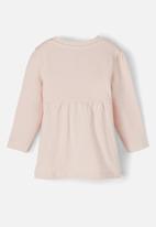 name it - Tora long sleeve tunic top - peach whip