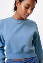 Cotton On - Graphic classic cropped crew - classic blue