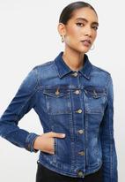 GUESS - Mid wash denim jacket - blue