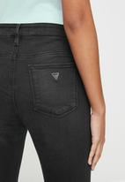 GUESS - Dark wash skinny jean - black