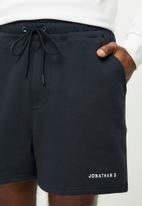 Jonathan D - Branded sweatshorts - regular fit - navy