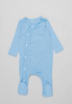 POP CANDY - 2 pack long sleeve sleepsuit - blue & white