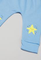POP CANDY - Babygrow & legging set - white & blue
