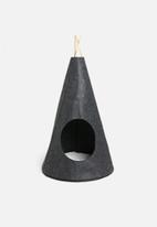 Sixth Floor - Cooper cat felt teepee - black