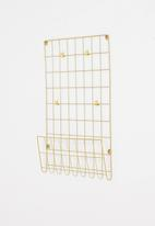 H&S - Grid wall rack - gold