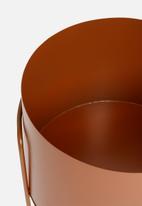 Sixth Floor - Tia round planter - rust