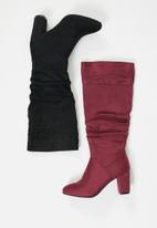 Madison® - Zena rouched boot - burgundy