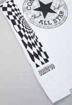 Converse - Cnvb warped checker cp grad tee - white