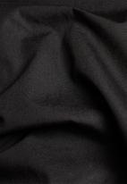 G-Star RAW - Mixed wvn baseball zip through long sleeve sweat - black