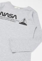 Superbalist Kids - Nasa pyjama top & pants set - grey & black