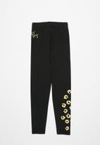 Sissy Boy - Paige leggings with glitter print - black