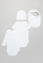 POP CANDY - Bib, beanie & bodyvest set - white