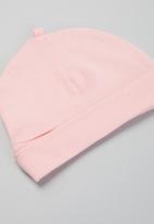 Superbalist Kids - Baby girls 2 pack printed beanies - white & pink